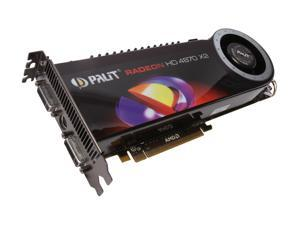Palit Radeon HD 4870 X2 AE=487x2+T34 Video Card
