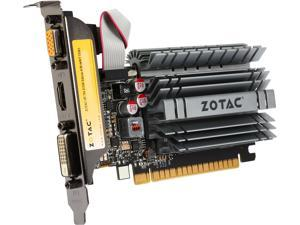 ZOTAC GeForce GT 730 DirectX 12 (feature level 11_0) ZT-71115-20L 4GB 64-Bit DDR3 PCI Express 2.0 x16 (x8 lanes) Zone Edition Video Card