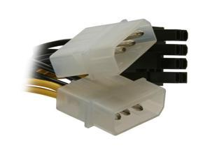HIS HPC24I8O Power Cable (2x4 pin in, 8 pins out)