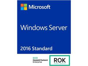 HPE ROK License - MS Windows Server 2016 Standard Edition - 16 core