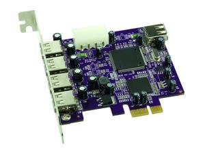 SoNNeT Allegro USB PCIe Card 4-Extended + 1-Int USB2 Ports Macintosh/Windows Model USB2-E