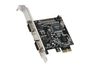 SYBA PCI-Express Dual RS-232 Serial Port Card Model SD-PEX-NM2S