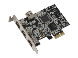 SYBA PCI-Express lower profile Firewire 1394a Controller Card Model SD-LP-PEX4F