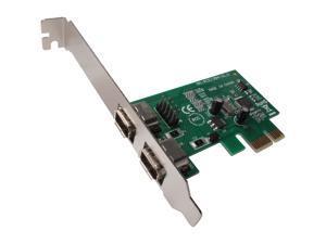 SYBA 2 Ports PCI-E IEEE 1394A Firewire Card Model SY-PEX30001