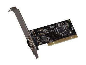 SYBA PCI 1-Port Serial DB9 RS232 Card with Low Profile Bracket - RoHS Model SD-PCI15024