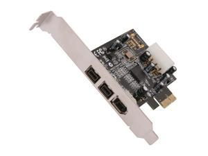 SYBA 2-port of 1394b + 1-port of 1394a Firewire Ports PCI-Express Controller Card (SY-PEX30016)