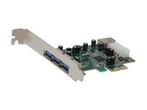 SYBA USB 3.0 PCI-Express Card with 3 External and 1 Internal Ports, VIA VL800 Chipset Model SY-PEX20073