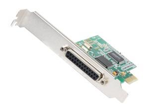 SYBA 1-port DB-25 Parallel Printer Port (LPT1) PCI-e Controller Card, IOC Chipset Model SY-PEX10007
