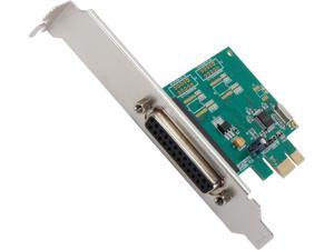 SYBA Parallel 1 Port PCI-e Controller Card with Full & Low Profile Brackets, WCH382L Chipset Model SI-PEX10010