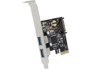 SYBA 2-Port USB 3.0 PCI-Express Card, x1, Etron Chipset EJ168A with Full & Low Profile Brackets Model SD-PEX20158