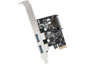 SYBA 2-Port USB 3.0 PCI-Express Card, x1, Revision 1.0&#59; Renesas Chipset with Full & Low Profile Brackets Model SD-PEX20160