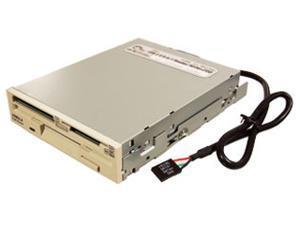 SIIG JU-91RB12 9-in-1 USB 2.0 Card Reader + FDD