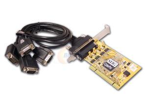 SIIG Four 16650 serial port I/O card with 4-port (DB9) fan-out cable Model JJ-P04111-S6