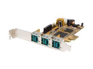 StarTech 3 Port PCI Express 12V PoweredUSB Adapter Card - USB PlusPower
