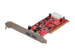 StarTech 2 Port PCI SuperSpeed USB 3.0 Card Adapter Model PCIUSB3S2