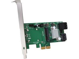 StarTech.com 3-Port PCI Express 2.0 SATA III 6 Gbps RAID Controller Card with mSATA Slot and HyperDuo SSD Tiering PEXMSATA343
