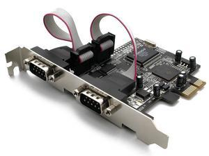 Rosewill PCIE Card With 2 Port Serial Port Model RC-301-E