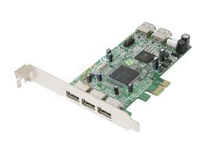 Koutech 5-Port Hi-Speed USB 2.0 PCI Express (x1) Card Model IO-PEU522