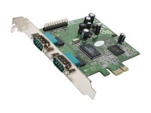 Koutech Dual Port Serial PCI Express (x1) Card Model KW-221NE