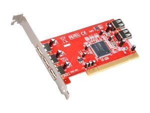 Koutech 5-Port USB 2.0 PCI Card (3xExt+2xInt) Model IO-PU526