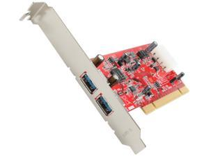 Koutech 2-Port SuperSpeed USB 3.0 PCI Card Model IO-PU230