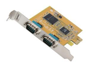 Koutech 2-Port RS-232 Serial PCI-Express (x1) Add-On Card Model IO-PES231