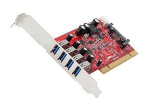 Koutech 4-Port SuperSpeed USB 3.0 PCI Add-On Card Model IO-PU430
