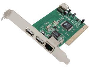 Inland PCI 2-Port USB 2.0 + RJ-45 Ethernet Card Model 08372