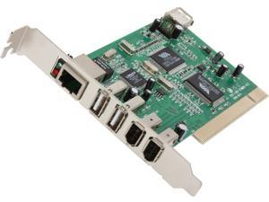 Inland USB 2.0 and 1394A Firewire and Ethernet Combo PCI Card Model 08374