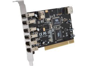 BYTECC USB 2.0 + Firewire Combo PCI Card (4+1 USB2.0 & 2+1 Firewire A Ports) Model BT- PCI-U2FW