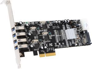 VANTEC Quad Chip 4-Port Dedicated 5Gbps USB 3.0 PCIe Host Card Model UGT-PCE430-4C