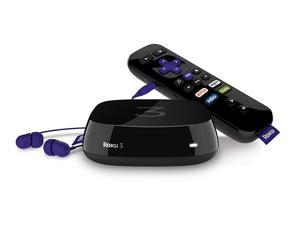 Roku 3 (4230R) Streaming Media Player With Voice Search (2015 model) - Certified Refurbished