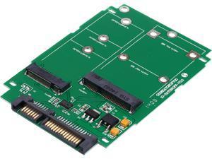 SYBA M.2 (NGFF) & mSATA SSD to SATA III with Standard & Low Profile Brackets Model SI-ADA50067