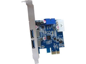 Tek Republic PCI-E to USB 3.0 2 Port Express Card, with 1 USB 3.0 20-pin Connector and 5V 4 Pin Male Power ConnecModel TR-PCIE-U32S20
