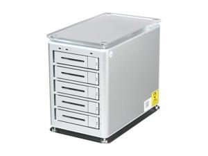 SANS DIGITAL TowerSTOR TS5CT 5 Bay SATA to USB2.0 / eSATA / Firewire 800 Hardware RAID 5 Enclosure