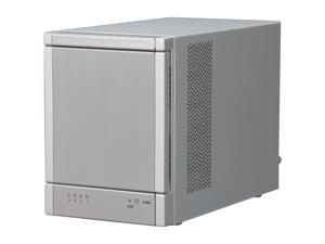 Sans Digital 4-Bay SAS/SATA JBOD Compact Tower Enclosure w/ Mini-SAS (SFF-8088) x 1 TR4X+ (Silver)