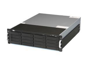 "SANS DIGITAL EliteSTOR ES316X6+B JBOD (RAID is supported by additional RAID card) 16 x Hot-Swappable 3.5"" Drive Bays 6G SAS Expander, Mini-SAS / SFF-8088 x 1 3U 16 Bay 6G SAS/SATA to SAS JBOD with SAS"