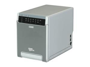 SANS DIGITAL MobileSTOR MS4CT+ 4-Bay USB 3.0/ eSATA/ 1394a/ 1394b Hardware RAID Enclosure