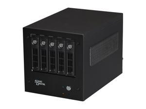 SANS DIGITAL AccuNAS AN5L+ 64bit 5 Bay NAS + iSCSI with Intel Atom Dual Core CPU (Black)