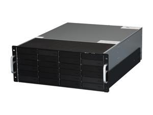 "SANS DIGITAL EliteSTOR ES424X6+BS JBOD 24 x Hot-Swappable 3.5"" Drive Bays Host: 6G SAS Expander, Mini-SAS / SFF-8088 x 1 Expansion: Mini-SAS / SFF-8088 x 1 (Up to 5 units supported) 4U 24-Bay 6G SAS/S"