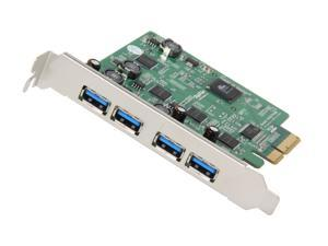 HighPoint RocketU 1144B PCI-Express 2.0 x4 USB 3.0 Second Generation Quad USB 3.0 Ports Controller Card