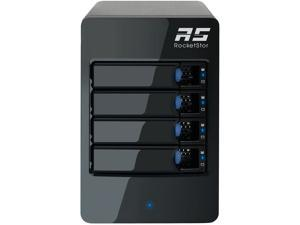 HighPoint RocketStor 6114V RAID 0, 1, 5, 10, JBOD 4-Bay RAID 5 USB 3.1 Gen 2 Storage Enclosure