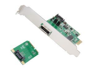 SYBA SD-PEX40055 PCI-Express 2.0 x1 SATA III (6.0Gb/s) HyperDuo RAID Controller Card