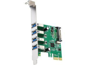 SYBA SD-PEX20212 PCI-Express 2.0 x1 USB 3.0 4 Port  Card