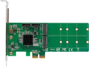 SYBA SI-PEX50102 Low Profile SATA M.2 + SATA to PCI-e x2 Hardware RAID Card (B or B+M Key)