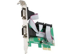 SYBA SI-PEX15058 PCI-e 1.0 x1 Low Profile 2 Port DB9 Serial PCI-e 1.0 x1 Controler Card