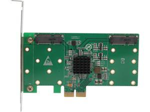 SYBA SI-PEX40109 PCI Express 2.0 Low Profile SATA 4-port mSATA to PCI-e x2 adapter with RAID