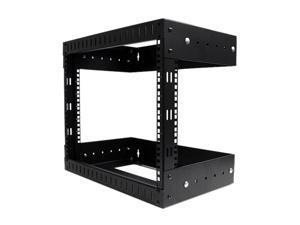 StarTech RK812WALLOA 8U Open Frame Wall Mount Equipment Rack - Adjustable Depth