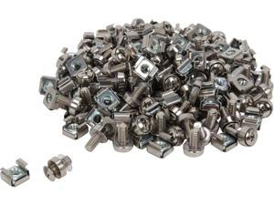 StarTech CABSCREWM62 100 Pkg M6 Mounting Screws and Cage Nuts for Server Rack Cabinet