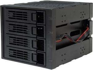 "Rosewill RSV-SATA-Cage-34 Black 3x5.25"" to 4x3.5"" Hot-swap SATAIII/SAS Hard Disk Drive Cage"